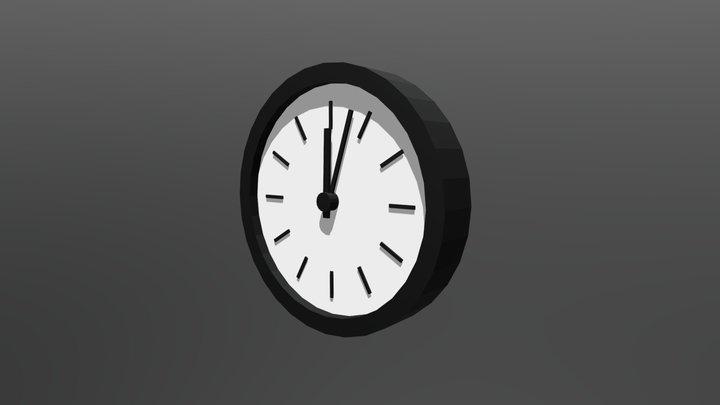 Clock (Low Poly) 3D Model