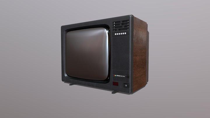 Retro USSR TV Record VC-381D 3D Model