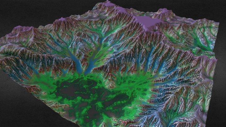 Acid Terrain - Nuclear Landscape 3D Model