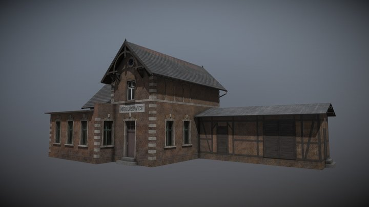 Train Station - Nieborowice, Poland (FREE) 3D Model