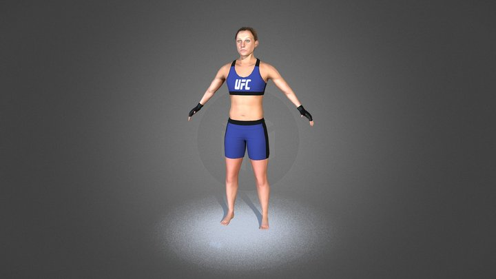 MMA Figther 3D Model