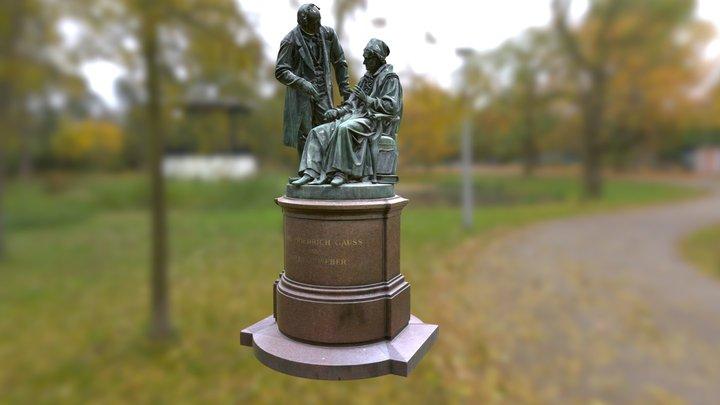 Goettingen Gauss Weber Denkmal Monument 3D Model