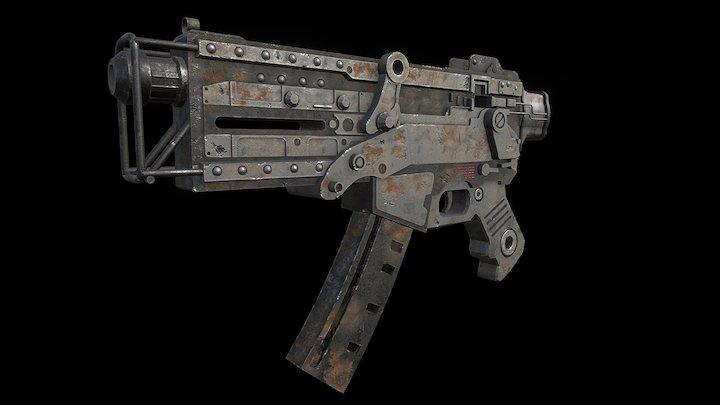 Fallout 10mm SMG 3D Model
