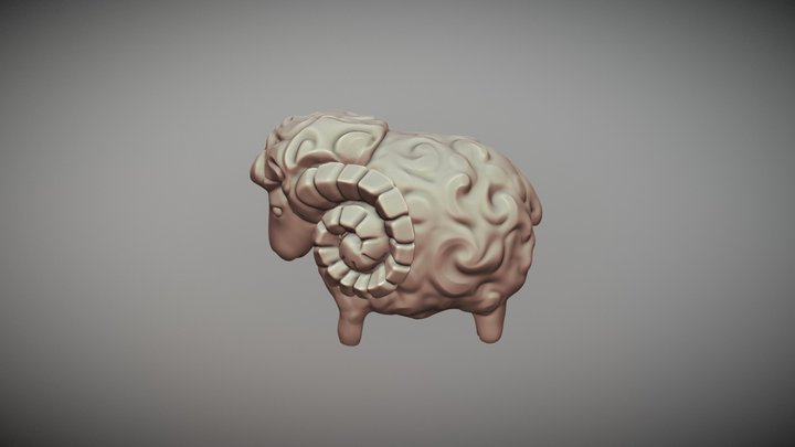 Lamb toy 3D Model