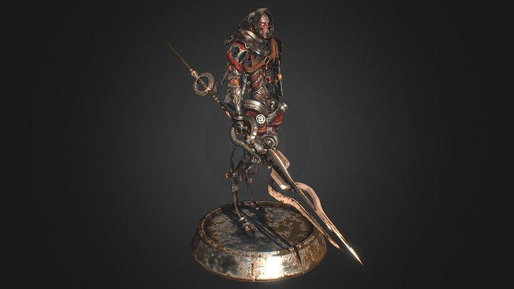 Grim Kabuki Cyborg 3D Model