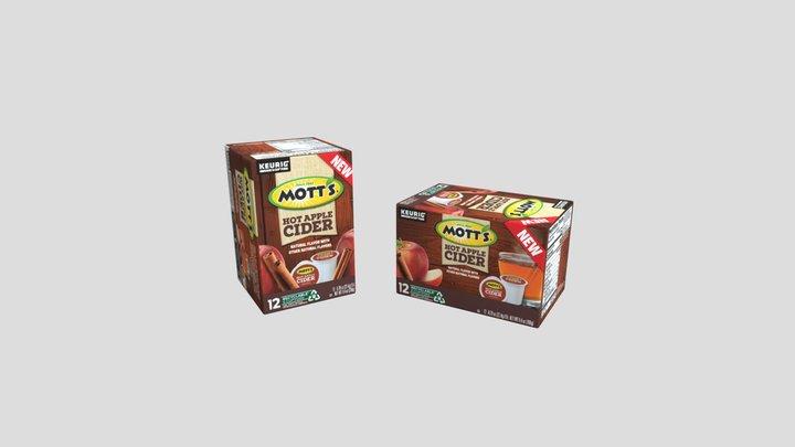 Two Motts Cartons 3D Model