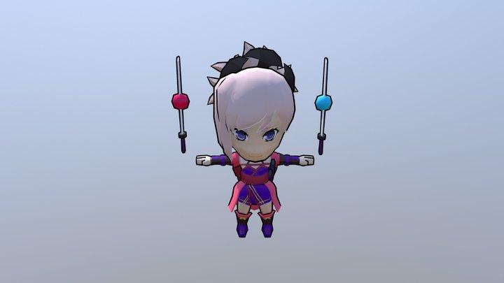 Nendroid Musashi T Pose 3D Model