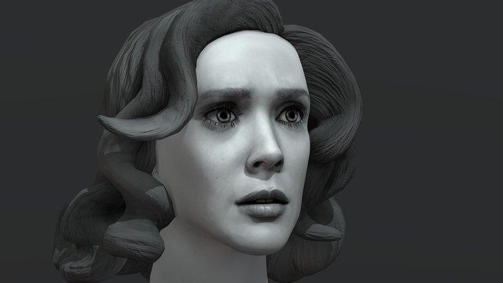 Wanda Maximoff - Scarlet Witch - Elizabeth Olsen 3D Model