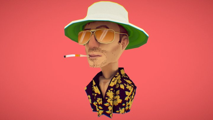 Fear and loathing in low-poly 3D Model