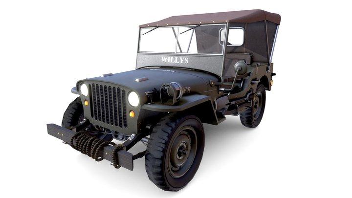 World War 2 Willys Jeep 3D Model