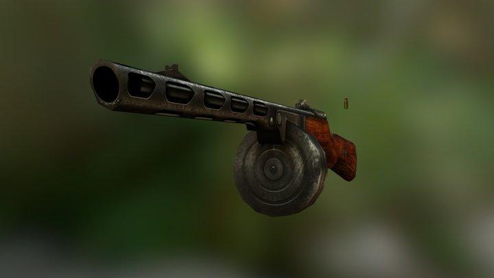 Gun PPSH41 3D Model