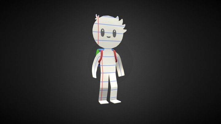 Snip the (literal) Paper Boy 3D Model