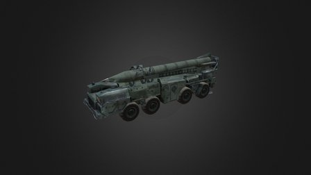 Military Vehicle Scud 9P117 3D Model