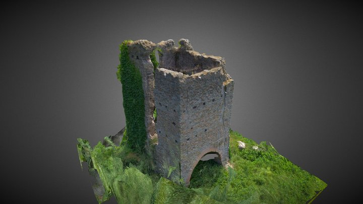 Torre Valca Parco della Caffarella Medieval 3D Model