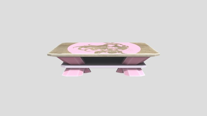 Gamer Girl Table - Amber 3D Model