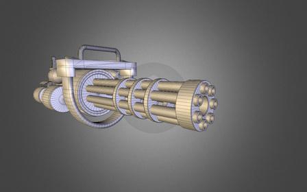 Minigun m148 3D Model
