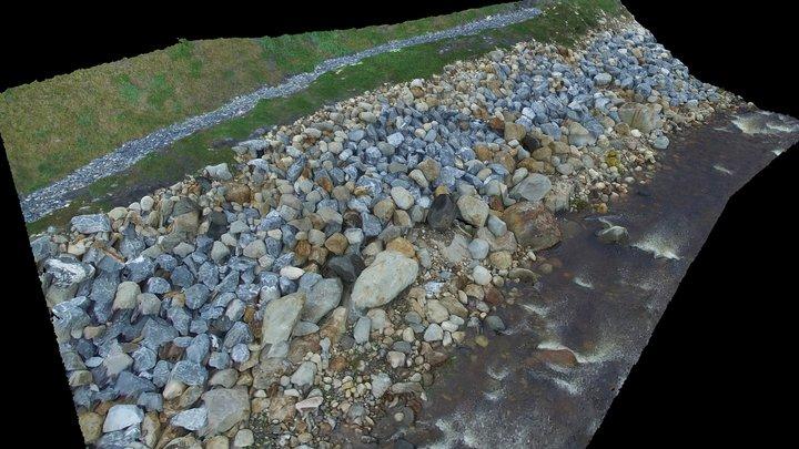 West Branch Deerfield River Bank 3D Model