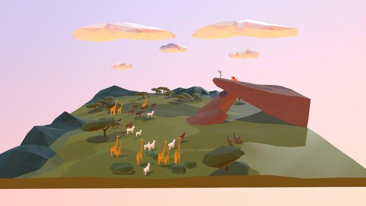 Kings Rock, The Lion King 3D Model