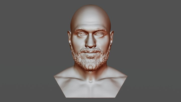 Tyson Fury bust for 3D printing 3D Model