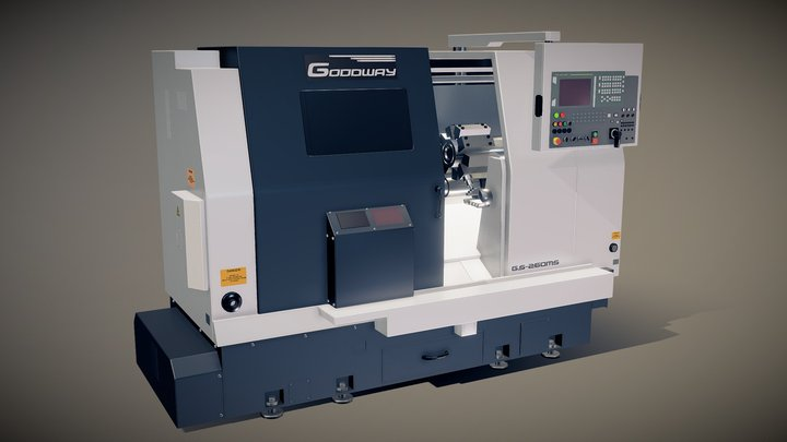 lathe turret machine GOODWAY GS-260MS Koordinate 3D Model