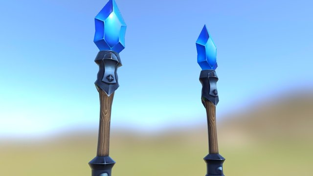 Magic Staff 3D Model