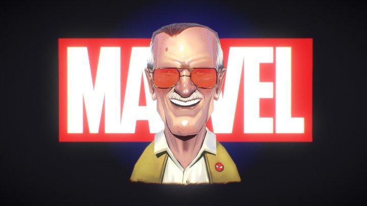 Stan Lee Tribute - 3D portrait 3D Model