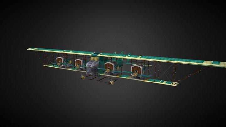 Ilja Muromets Plane Stylized 3D Model