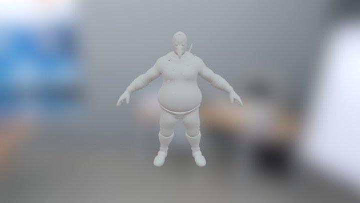 Spooky Fatman 3D Model