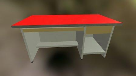 Tugas 1 Meja Komputer 3D Model