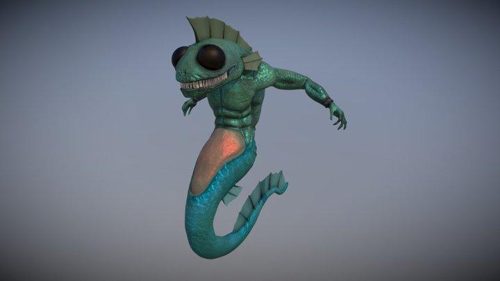 Gulper Merman 3D Model