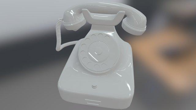 德國老式電話 Vincy's Phone-Height res 3D Model