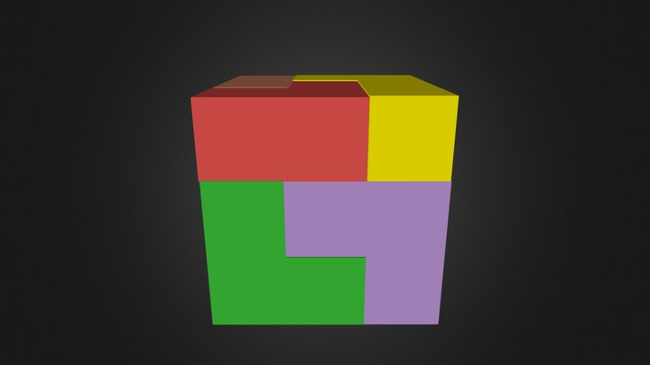 Cube Assembly 3D Model