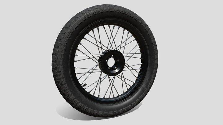 Wheel motorcycle 3D Model