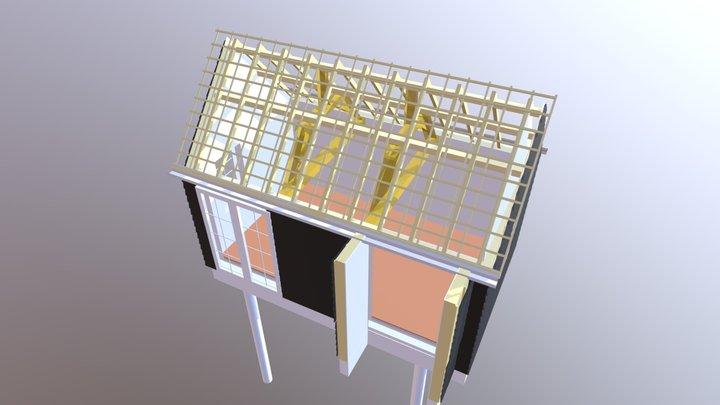 Woonkameruitbreiding 3D Model