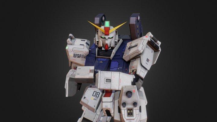 RX-79 Gundam Ground Type 3D Model
