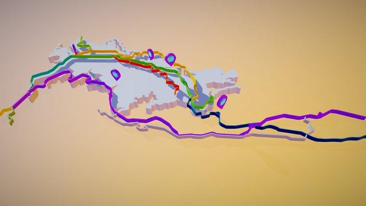 """mapa - """"Un café manizaleño"""" 3D Model"""