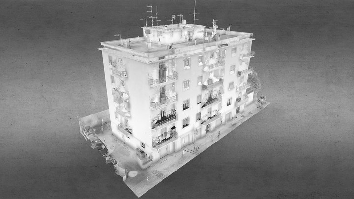 Nuvola punti condominio Viterbo 3D Model