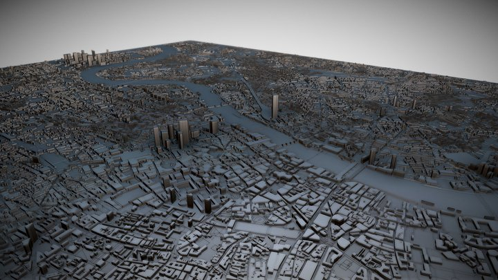 London, UK 3D Model