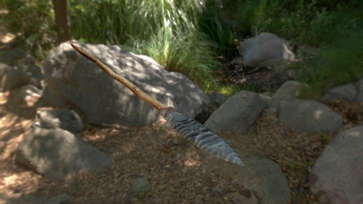 Simple Stone Spear 3D Model