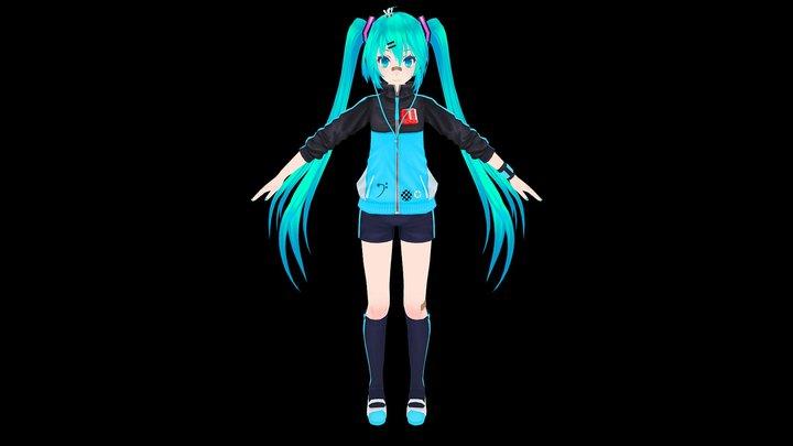 Hatsune Miku Stylish Energy 3D Model