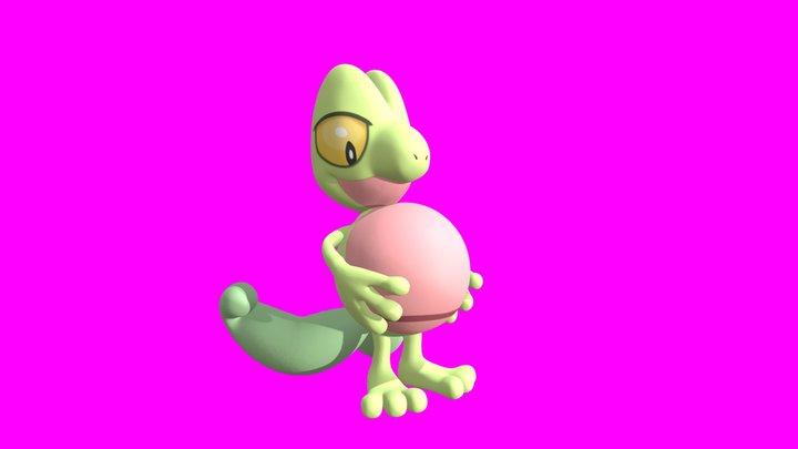 Treecko Big Belly Playtime 3D Model