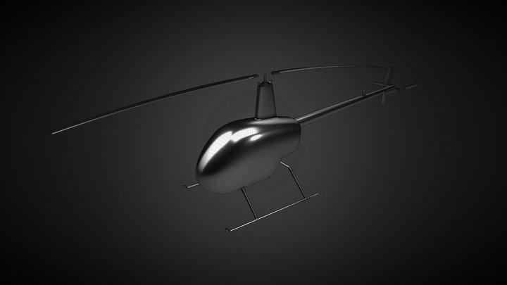 Robinson R22 v3.019 (work in progress) 3D Model