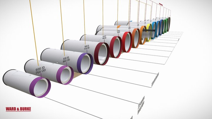 Micro-Tunnelling - High Strength Jacking Pipes 3D Model