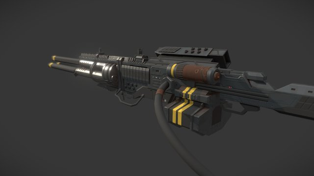 Cinematic Gun / Endless Space 2 3D Model