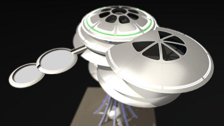 SKY LIVING w/FBX 3D Model