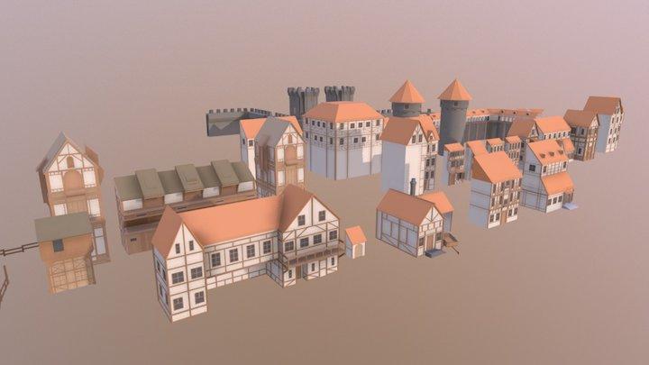 Medieval City Builder Asset 1st preview 3D Model