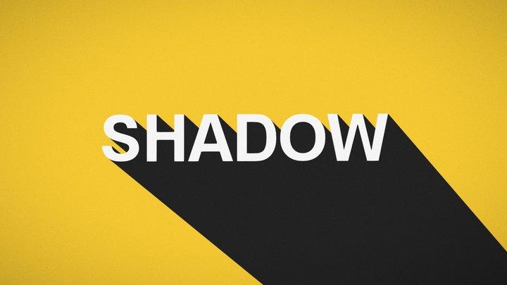 Flat Shadow - Typography 3D Model