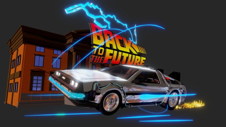 Back To The Future Tribute - For Sketchfab 3D Model