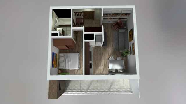 Apartment with natural light 3D Model