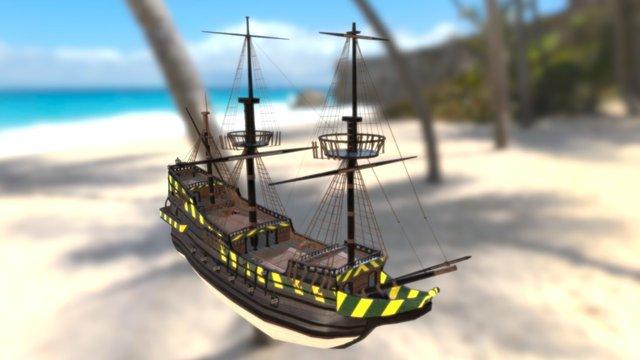 WIP Fluyt Ship 3D Model